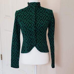 Diane von Furstenberg Green Valkari Jacket